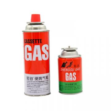 227g Round Shape Portable butane gas cartridge and butane gas canister  refillable 220g-250g