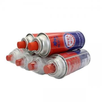 227g Round Shape Butane Gas Canister 220gr Nozzle Type