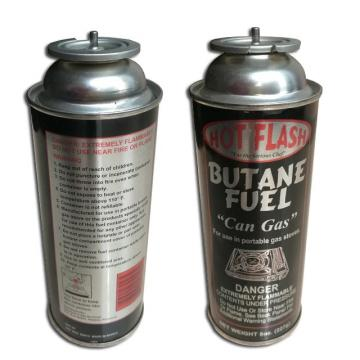 Empty butane gas cartridge and camping gas butane canister refill for portable camping stoves