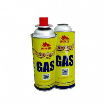 227g Round Shape Hot Sale Butane Gas with Custom Logo for Camping Usage