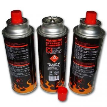 Safety Flame Control Butane gas cartridge and butane gas can