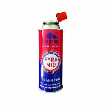 OEM LOGO printing aerosol portable butane gas cans with valve and cap gas cylinder 190 gr