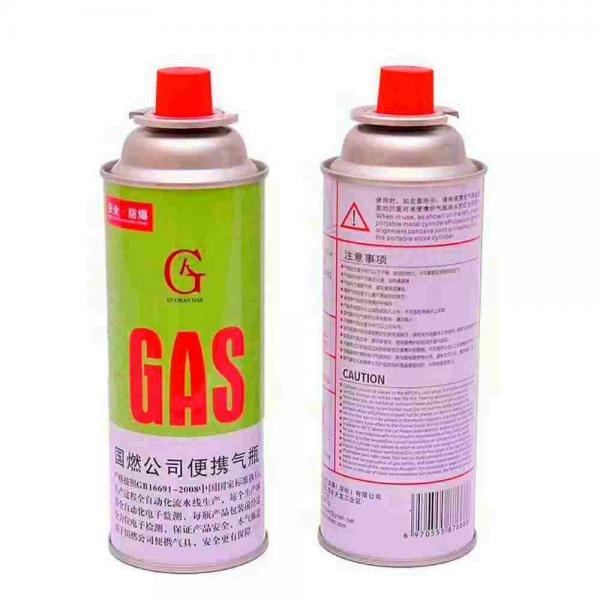 Camping butane gas cartridge for portable gas stove with filled butane gas 400ml 227g for camp stove