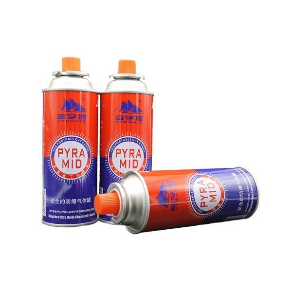 227g Round Shape Portable butane gas cartridge and butane gas canister for portable stove